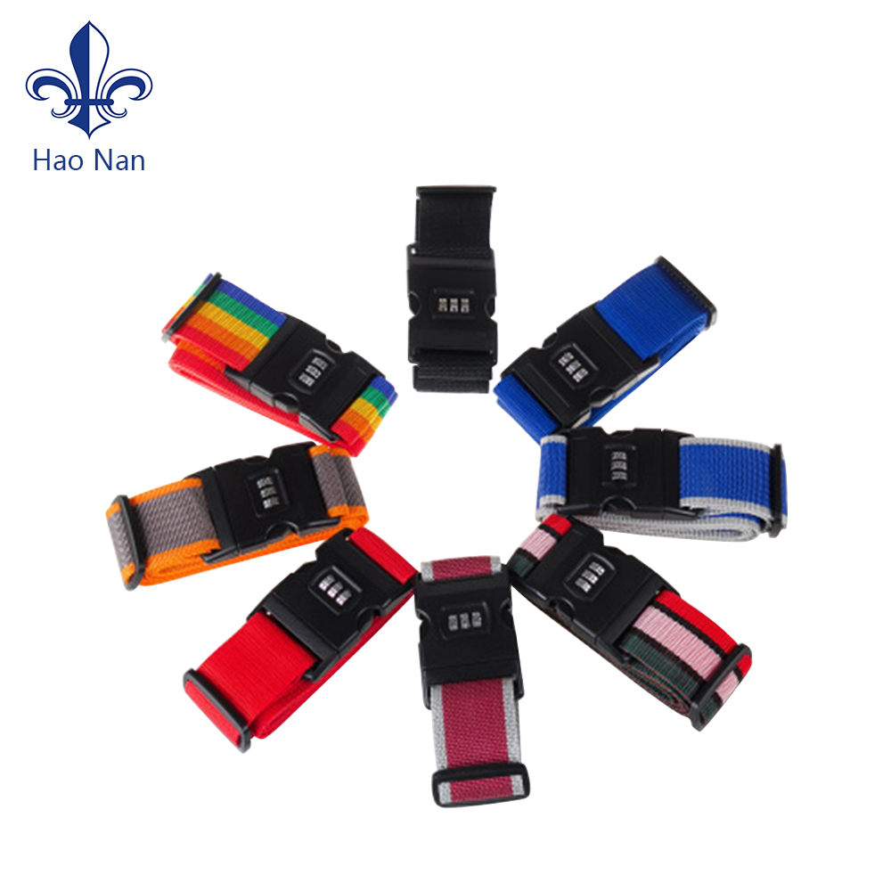 various styles luggage belt strap with Plastic clip hook