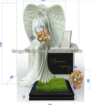 marble statue of angel tombstone
