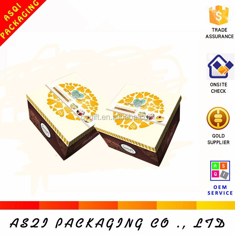 new products lid and base style cheese moon cake paper box for wedding