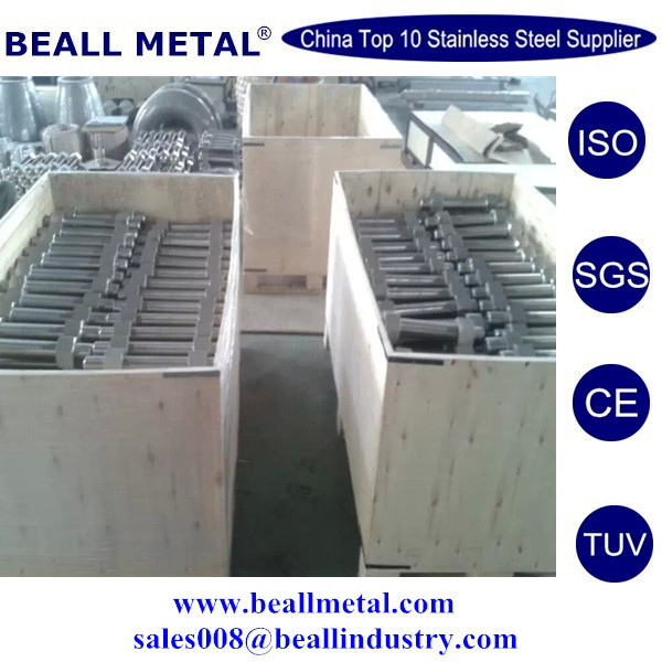 best Inconel 718 Fully threaded Stud bolts with 2 hex nuts
