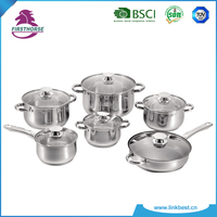 12pcs nonstick stainless steel cookware set LB-1106