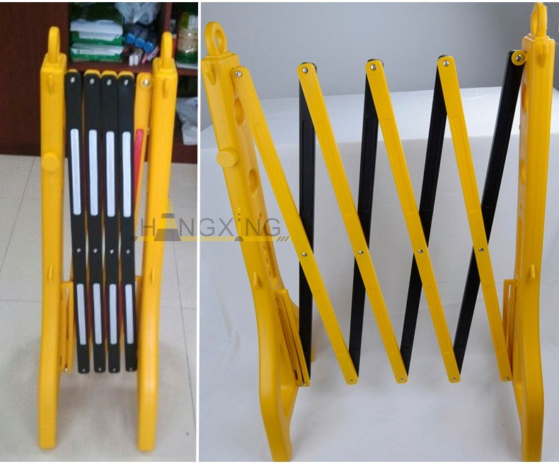yellow&black 96cm traffic plastic folding barrier for roadway safety
