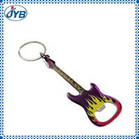 cool guitar shape keychain with bottle opener