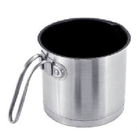 304 Stainless Nonstick Cookware Milk Cooking Pot with Spouring Spout