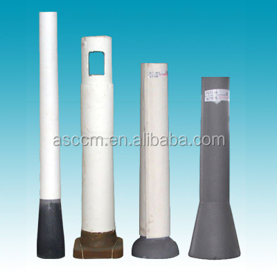 asccm manufacturer function refractory ladle shroud and tundish long nozzle