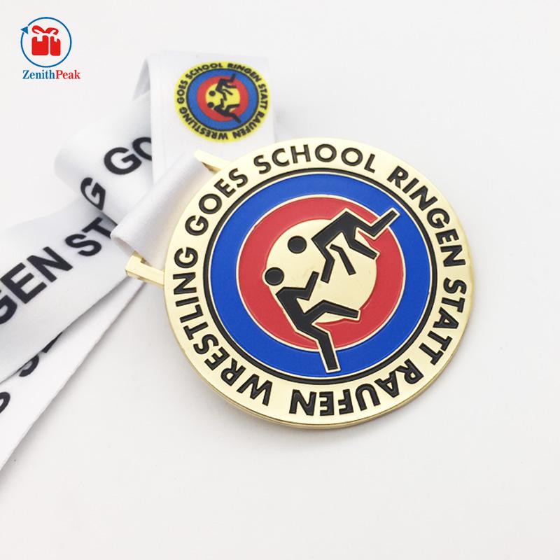 Commemorative Sch | 2017 Custom Commemorative Wrestling Medal For School View Wrestling