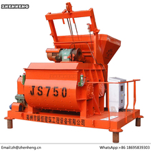 China Electric Engine Daftar JS750 Harga Double Twin Shaft Concrete Mixer
