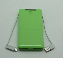 Multi-function power bank charger with charging cable for Smartphone/IPhone4/4s/5s