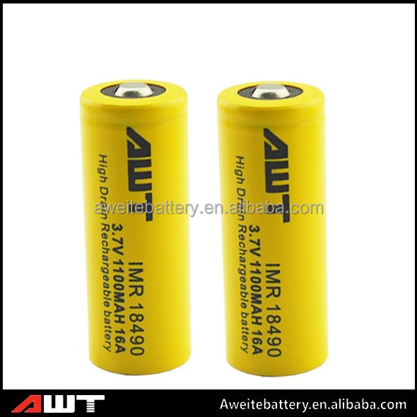 AWT high drain cell IMR 18490 1100 mah e-cigarette replacement battery