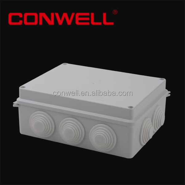 200x155x80mm ABS electrical junction box with Cable Gland/ joint box