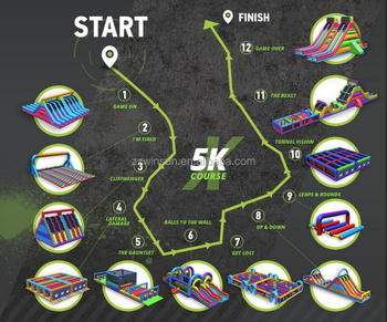Fun 5K Obstacle Course Races & Running Events, Rugged Maniac 5K Obstacle Race, Thunderdash 5K Mob Run Obstacle Course For Sale