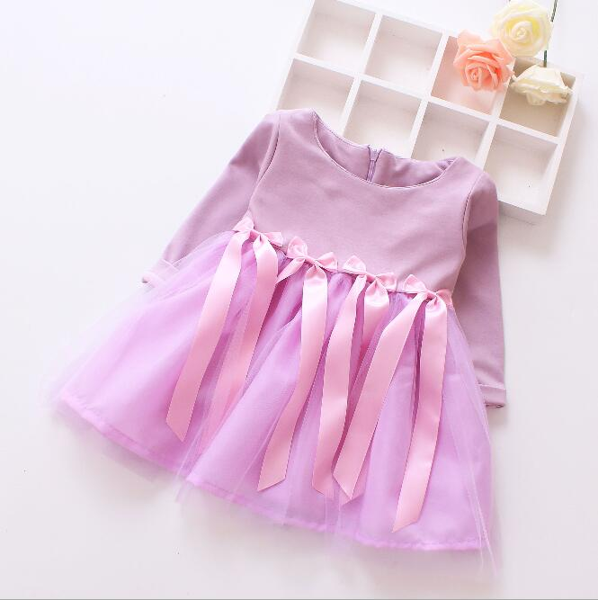 zm51499a China suppliers children long sleeve dress baby frock designs girl clothes