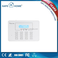 Smart LCD display touch keypad 433/315mhz frequency gsm security alarm system