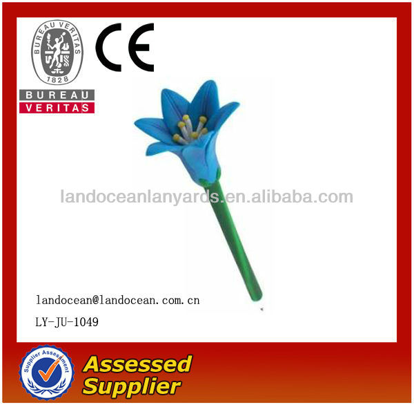 Manufacture Promotional Flower Shaped Plastic Pen, Ball pen