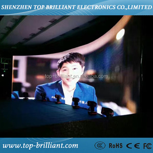 Outdoor flexible curved led screen p5.95mm