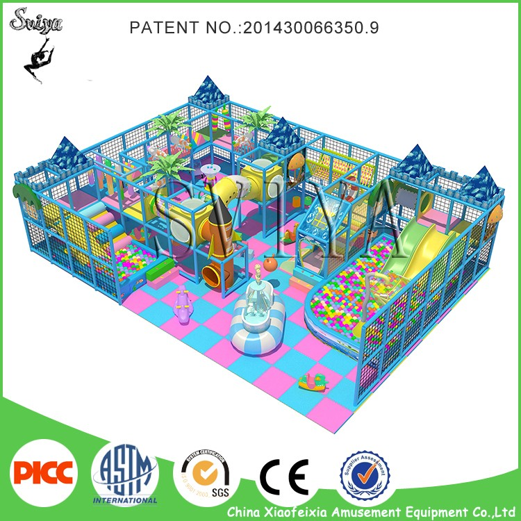 lovely indoor inflatable playground equipment with slide