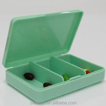 Decorative Cute 3 Lattices Pill Boxes Pill Case Pill Container