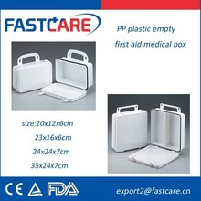 Medical Plastic First Aid Kit White Case CE FDA 2