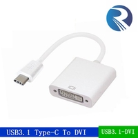 high speed USB-C USB 3.1 Type C Type-C to dvi Female Adapter Connector HDTV Cable for Macbook, Chromebook,apple