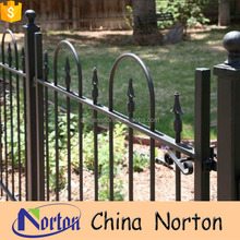 PVC coated ornamental European wrought iron fence designs NT-WIY023