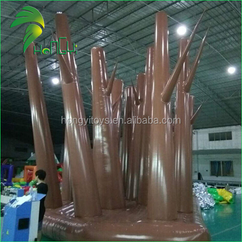 Commerical Giant Replica Inflatable Forest Model / Outdoor Popular Advertising Forest Tree Display