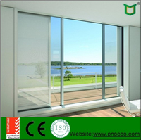 African style New design aluminum sliding windows and doors with single glass and low price high quality PNOC0315SLD