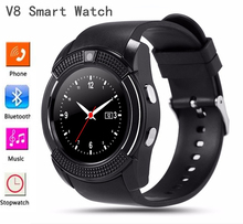 Unlocked cell phone bluetooth v8 smart watch android 4.4