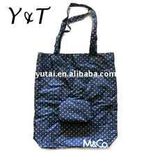 Hot sell eco-friendly laminated nylon polyester foldable shopping bag