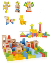 78 pcs toys for childrens DIY modelling as child creative wooden blocks