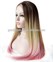 Fashion Beauty Heat Resistant Synthetic Long Pink Natural Wig