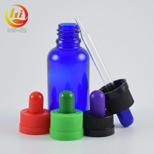 Customized colored gradient glass bottle for smoke oil with glass pipette, 30ml gradient bottle