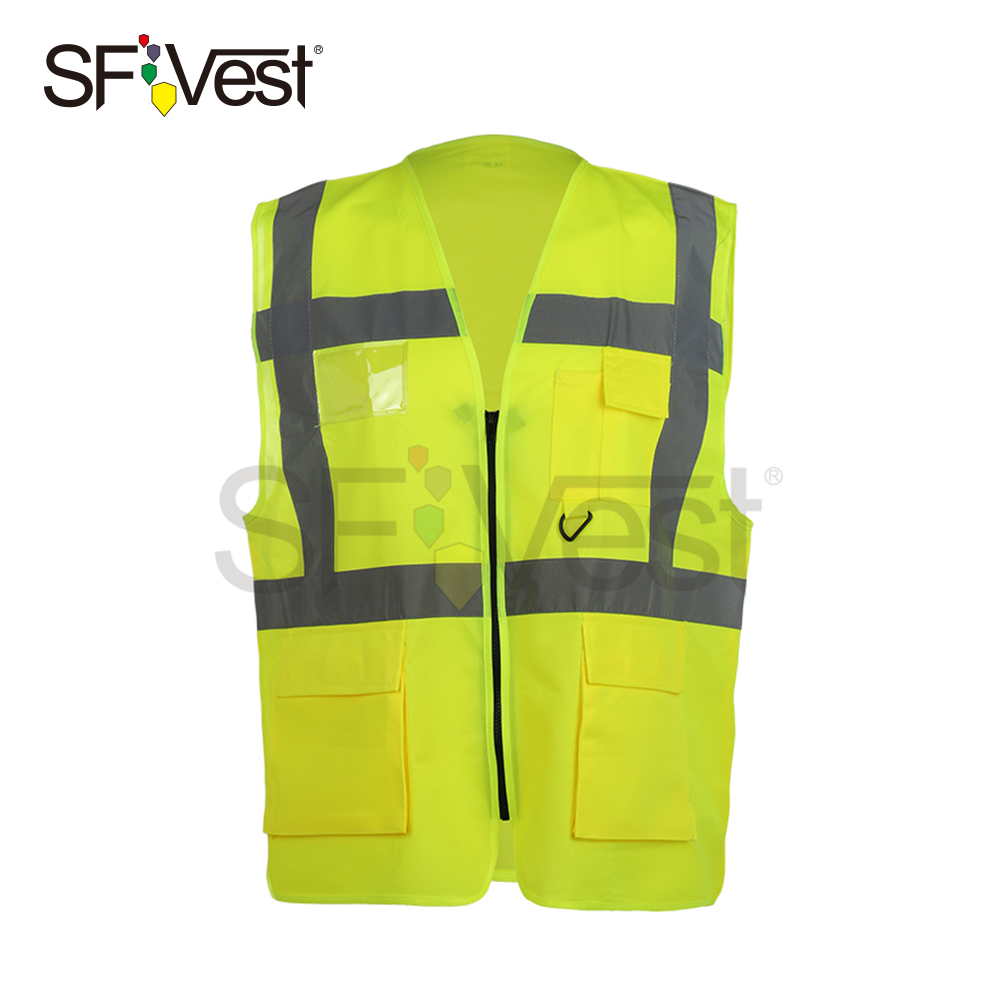 Safety Clothing For Men High Visibility Reflective Warning Vest With Pockets