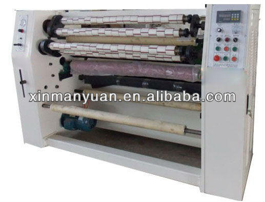 Semi fully automatic bopp tape slitting machine