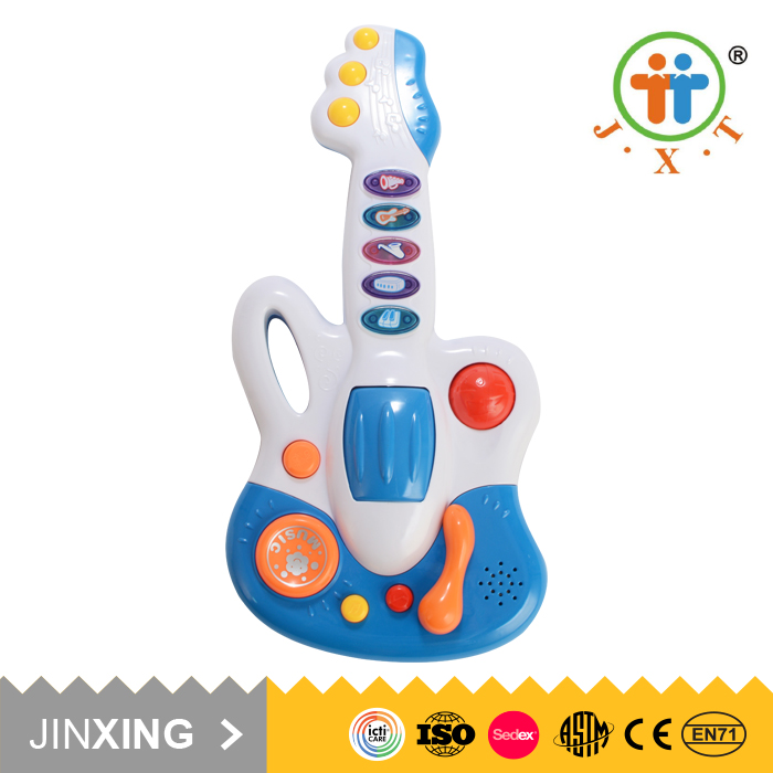 2017 popular kids educational electronic guitar baby musical toy with low prices