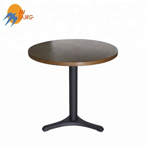 high quality hot sale cheap wooden top metal frame bar table