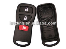 Black Nissan Key Remote,Keyless Entry Remote Car Key Housing with Three Buttons