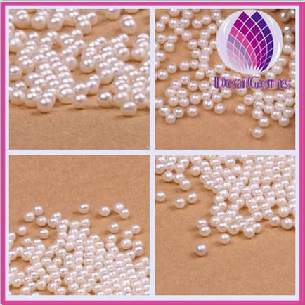 High quality AAA Grade round shape 1-5 mm loose freshwater pearl without hole wholesale
