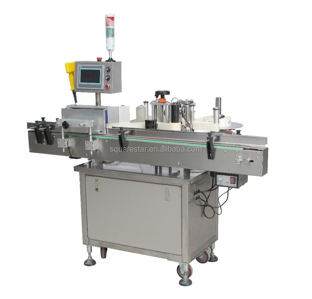 Automatic high speed round bottle labeling machine/self-adhesive labeling/vertical labeling