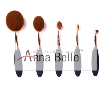 5pcs high quality black gold handle cosmetic Toothbrush Set golf shaped brush set on sale