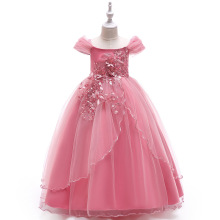 Wholesale baby frock designs fancy Flower <strong>Girl's</strong> Grown <strong>dress</strong> western wear for kids clothes girl <strong>dress</strong>