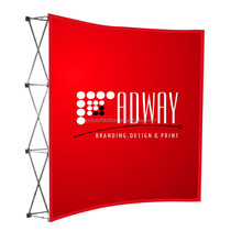 NEW 8ft portable Pop Up banner Fabric Display stand Wall for Trade show booth