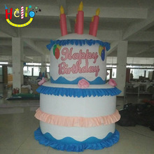 lovely inflatable birthday cake model for birthday decoration