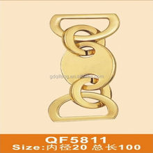 QF5811 fashion light gold metal chain combo shape for bag parts