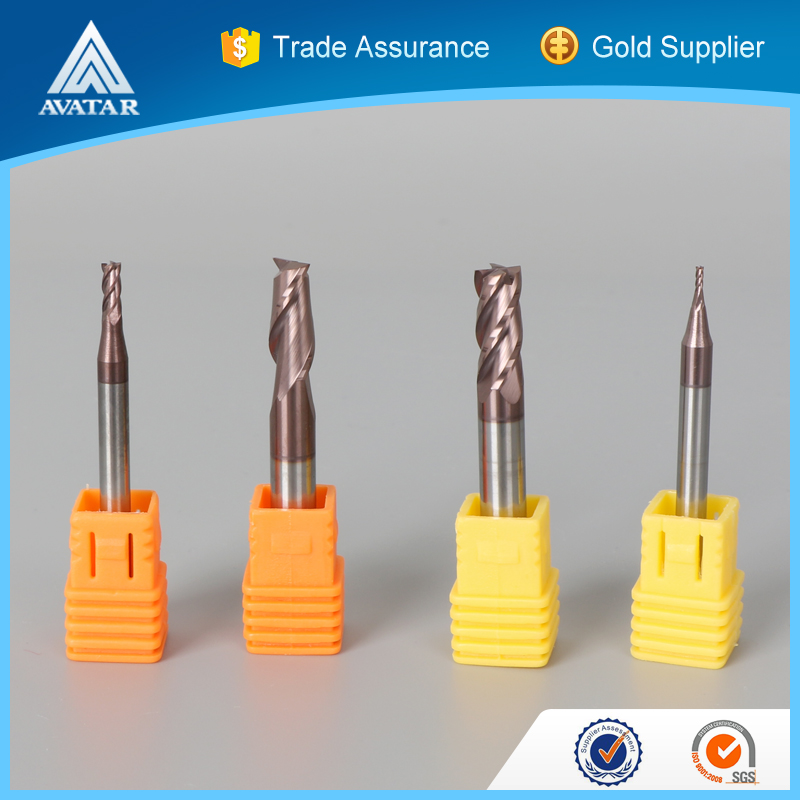 solid carbide CNC cutting tools for walll or bamboo with spiral flute