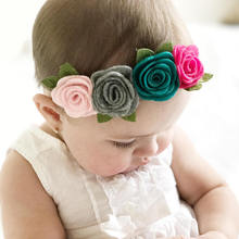 2018 new coming baby hair accessories felt flower headband for toddler/newborn