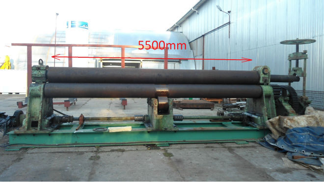 Plate bending machine 5500mm x 18mm 3 rolls