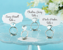 Wedding Table Decoration With This Ring Jeweled Name Place Card Holder
