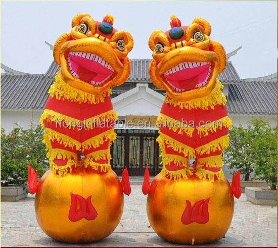 QH-M-20-inflatable modeling china lion for sale hot inflatable model
