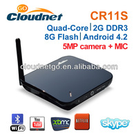 2013 New Arrival CR11S VGA Output Android TV Box Camera MK809IV RK3188 Quad core1.8g Hz CPU HD Media Player with 5MP Cam