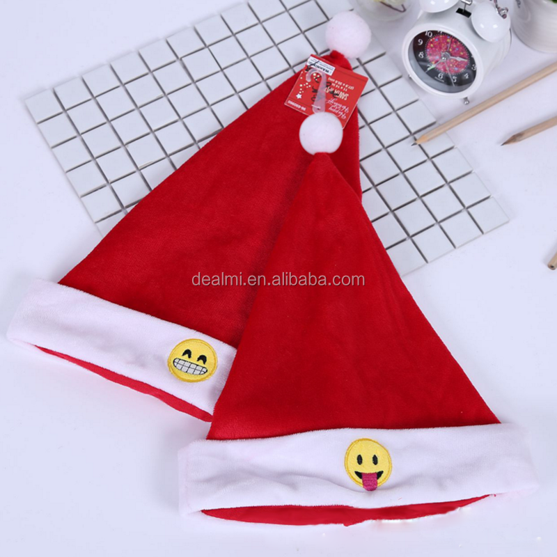 2017 the latest fashion wholesale felt cloth christams decoration christmas hat